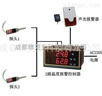 商用冰箱双温度报警器