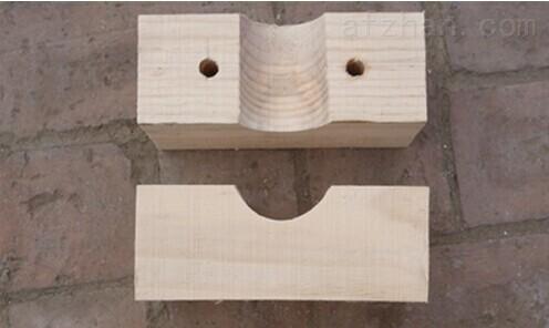 廊坊防腐管道木托 规格