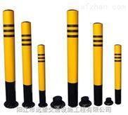阳春高强级黑黄警示桩安装 交通工程警示柱定做 水东信号灯工程安装