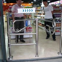 超市旋转式单向门安装