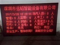 监控实时监控人员显示工地专用显示屏 建筑工地施工门禁考勤机