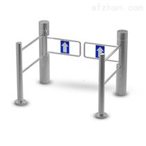 單入口超市圓柱帶燈光感應門