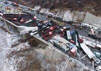 京昆高速37车相撞 寒潮来袭请小心驾驶