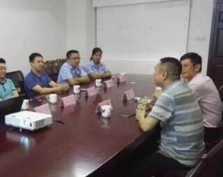 广西安防协会与协会会员单位南宁鹏耀公司交流