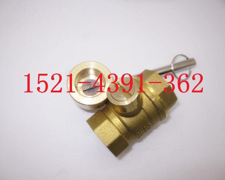 一字锁闭球阀=黄铜带钥匙球阀图片图片
