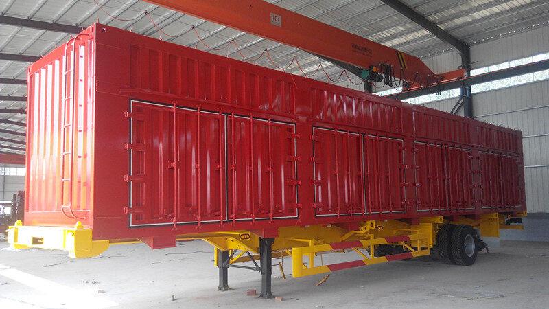 中国 国际出口集装箱骨架半挂车制造春节报价价格