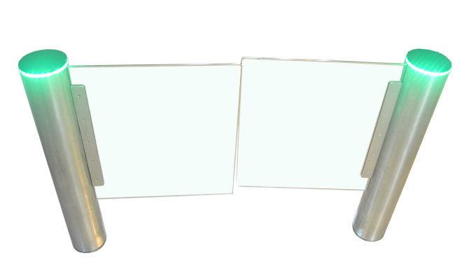 圆柱玻璃摆闸刷卡感应速通门