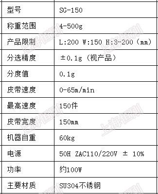 sg-150选别机